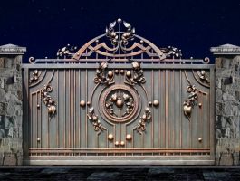 Кованые откатные ворота Воронеж