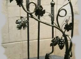 Кованые каминные наборы, дровницы, решетки №34