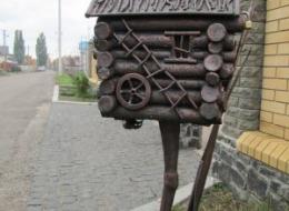 Кованые таблички, кованые почтовые ящики №35