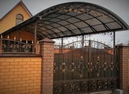 Кованые навесы Воронеж №35