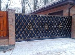 Кованые откатные ворота Воронеж №11