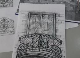 Кованые французские балконы Воронеж №90