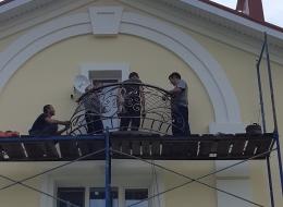 Кованые французские балконы Воронеж №88