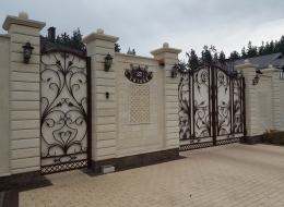 Кованые ворота Воронеж №185
