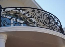 Кованые французские балконы Воронеж №83