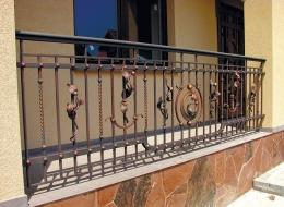 Кованые французские балконы Воронеж №84