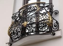 Кованые французские балконы Воронеж №70