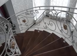 Кованые лестничные перила Воронеж №297