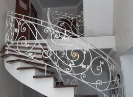 Кованые лестничные перила Воронеж №298