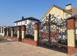 Кованые ворота Воронеж №160