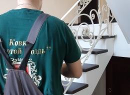 Кованые лестничные перила Воронеж №85