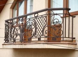 Кованые французские балконы Воронеж №78