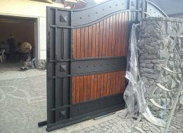 Кованые откатные ворота Воронеж №12