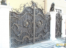 Кованые ворота Воронеж №12