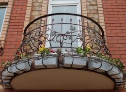 Кованые французские балконы Воронеж №10