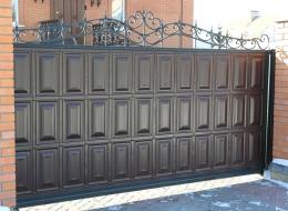 Кованые откатные ворота Воронеж №14