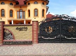 Кованые откатные ворота Воронеж №43