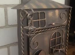Кованые таблички, кованые почтовые ящики №32