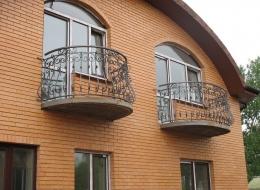 Кованые французские балконы Воронеж №23