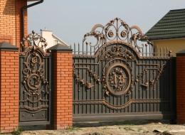 Кованые откатные ворота Воронеж №18