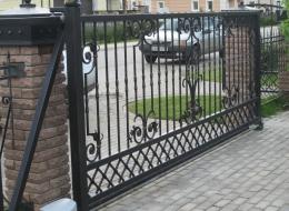 Кованые откатные ворота Воронеж №19