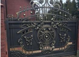 Кованые откатные ворота Воронеж №42