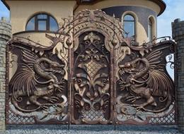 Кованые ворота Воронеж №108