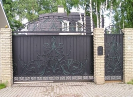 Кованые откатные ворота Воронеж №20