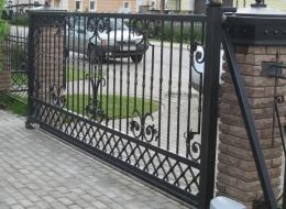 Кованые откатные ворота Воронеж №21