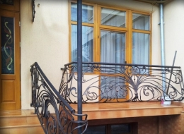 Кованые французские балконы Воронеж №36