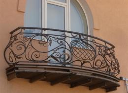 Кованые французские балконы Воронеж №80