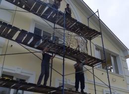 Кованые французские балконы Воронеж №93