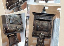 Кованые таблички, кованые почтовые ящики №90