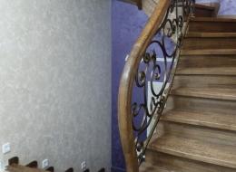 Кованые лестничные перила Воронеж №97