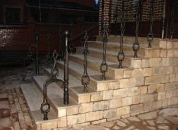 Чугунные лестничные ограждения 36