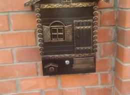 Кованые таблички, кованые почтовые ящики №85