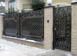 Кованые ворота Воронеж №23
