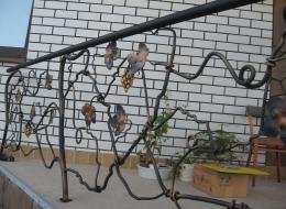 Кованые перила для крыльца на улице Воронеж №172