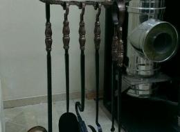 Кованые каминные наборы, дровницы, решетки №56