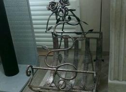 Кованые каминные наборы, дровницы, решетки №57