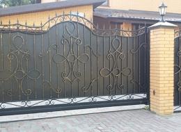 Кованые откатные ворота Воронеж №24