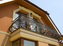 Кованые французские балконы Воронеж №48
