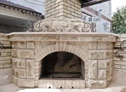 Кованые каминные наборы, дровницы, решетки №72