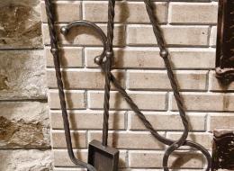 Кованые каминные наборы, дровницы, решетки №74