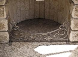 Кованые каминные наборы, дровницы, решетки №75