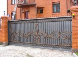 Кованые откатные ворота Воронеж №26