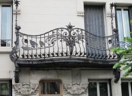Кованые французские балконы Воронеж №44