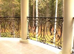 Кованые французские балконы Воронеж №50