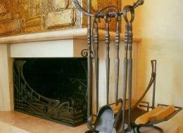 Кованые каминные наборы, дровницы, решетки №31