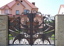 Кованые ворота Воронеж №215